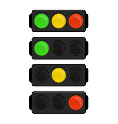 led traffic light vector image