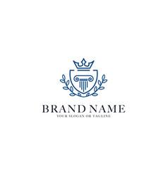 Logo design lawyer vector