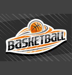 Logo for basketball sport vector