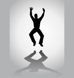 Man jumping silhouette vector