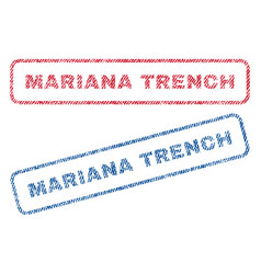 Mariana trench textile stamps vector