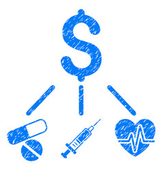 Medical budget grunge icon vector