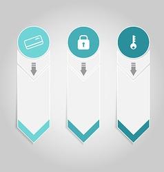 Modern design infographics element template paper vector image