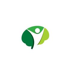 people brain logo icon design vector image