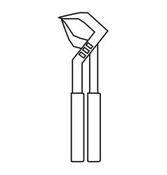 Plumbing repair tool vector