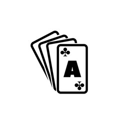 poker playing cards ace suits spade royal flat vector image