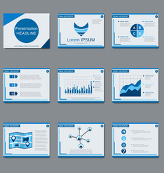 Professional business presentation template vector
