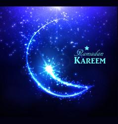 ramadan greeting card on dark background vector image