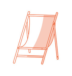 red silhouette shading image wooden chair for vector image