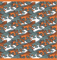 Seamless abstract retro geometric pattern circle vector