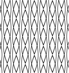 Seamless geometric black white pattern background vector