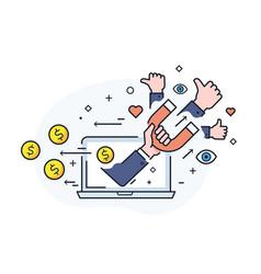 Shake hands blog monetisation virtual vector