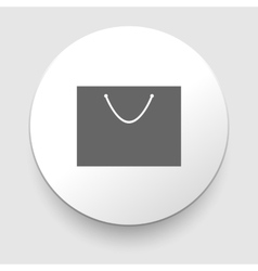 Shopping bag - isolated vector image