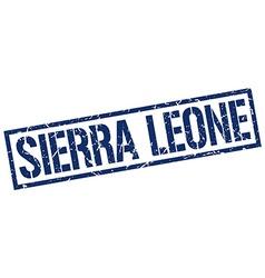 Sierra Leone blue square stamp vector