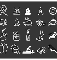 Spa massage therapy cosmetics icons vector image