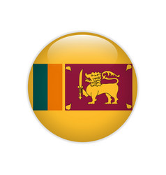 Sri lanka flag on button vector
