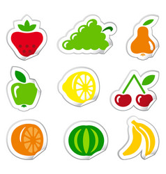 stickers of fruit vector image