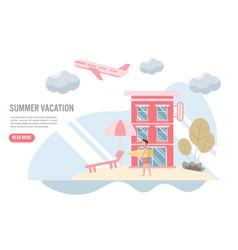 summer holiday and travel concept with vector image