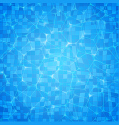 Swimming pool ripple water texture vector