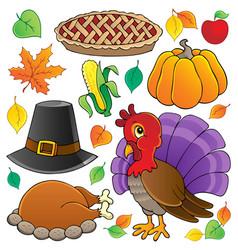 Thanksgiving theme collection 1 vector