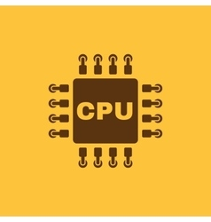 The cpu icon Microprocessor and processor symbol vector image