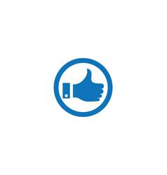 thumb hand icon vector image