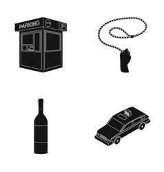 Transport alcohol and or web icon in black style vector