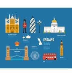United kingdom flat icons vector