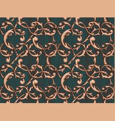 vintage baroque background vector image