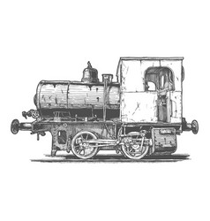 vintage fireless locomotive vector image