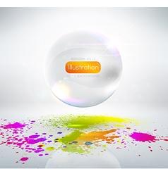 White Bubble Ornament vector image