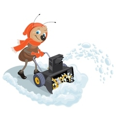 Ant domestic snow-plow Snow thrower vector image