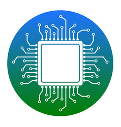 cpu microprocessor white vector image vector image