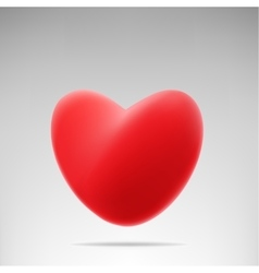 red like heart vector image vector image