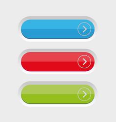 empty button set vector image vector image