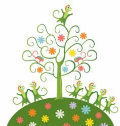 fairy tree vector image vector image