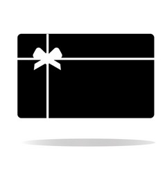 gift card icon on white background gift card vector image