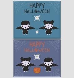 Halloween vampire costume children p vector