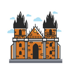 ancient castle from czech with towers and cone vector image vector image