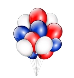Background with party balloons and place for your vector image