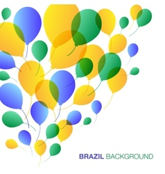 Balloons Background using Brazil flag colors vector image