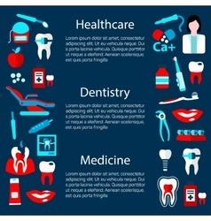 Dentistry treatment banner design template vector image