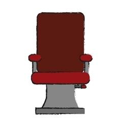 Isolated hair salon chair design vector