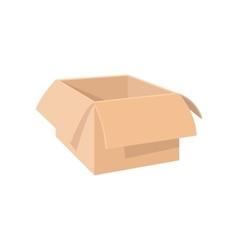 Open empty cardboard cartoon icon vector image vector image