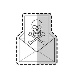 virus in message icon image vector image
