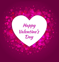 Hearts Frame Background for Valentines Day Card vector image vector image