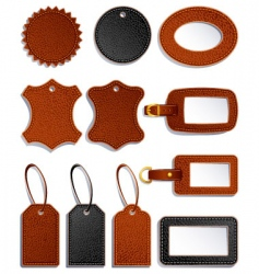 leather labels vector image