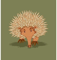 Little hedgehog walking alone vector image