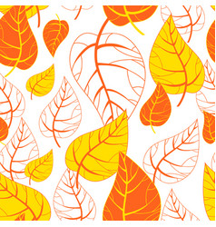 seamless autumn background botanical vector image vector image
