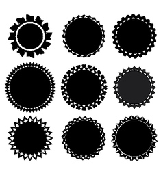 set of 9 label vector image